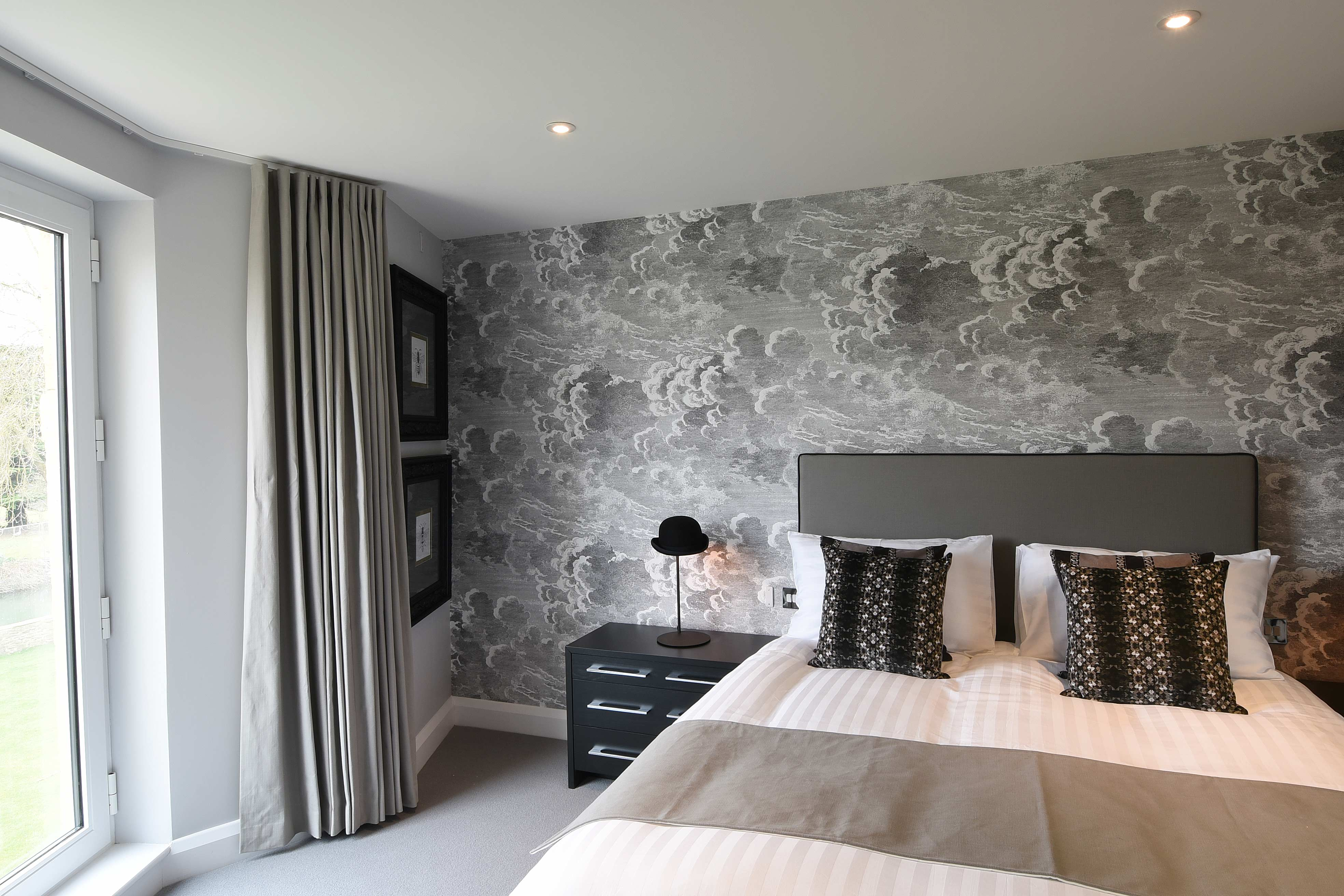 Bedroom in the Burford Suite: 1 bedroom luxury riverside serviced apartment at The Old Gaol in Abingdon, near Oxford. Ideal accommodation for corporate or holiday short lets